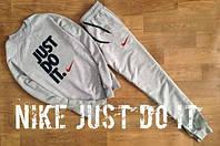 Зимний спортивный костюм, теплый костюм Nike, Найк костюм, мужской, серый, К153