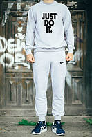 Зимний спортивный костюм, теплый костюм Nike, Зимний спортивный костюм, теплый костюм Найк, мужской, цвет: серый, К151