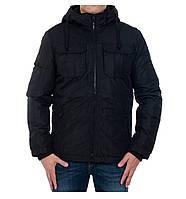 Куртка мужская демисезонная (теплая) бренда Jack Jones черная в размерах оптом XXL