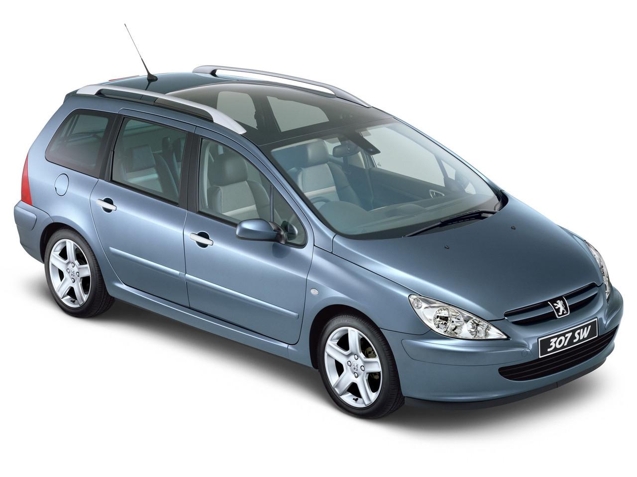 Лобовое стекло Peugeot 307 с местом под датчик (2001-2007)