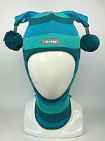 Весенняя-осенняя шапка-шлем для мальчика Арлекин 1707-32