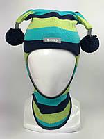Весенняя шапка-шлем для мальчика Арлекин 1707-35