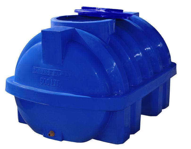 Бесплатная доставка. Емкость, бак, бочка 500 литров усиленная ребром пищевая двухслойная горизонтальная RGД Р