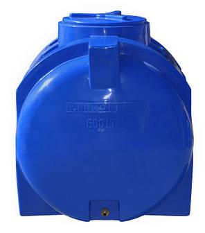 Бесплатная доставка. Емкость, бак, бочка 500 литров пищевая двухслойная горизонтальная RGД, фото 2
