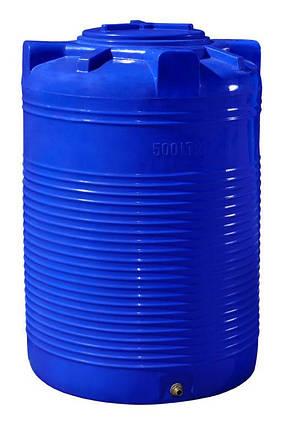 Бесплатная доставка. Бак, бочка, емкость 500 литров пищевая двухслойная вертикальная RVД, фото 2