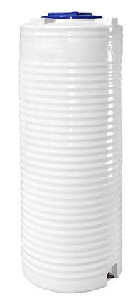 Бесплатная доставка. Бак, бочка, емкость 500 литров пищевая узкая вертикальная RVО У, фото 2