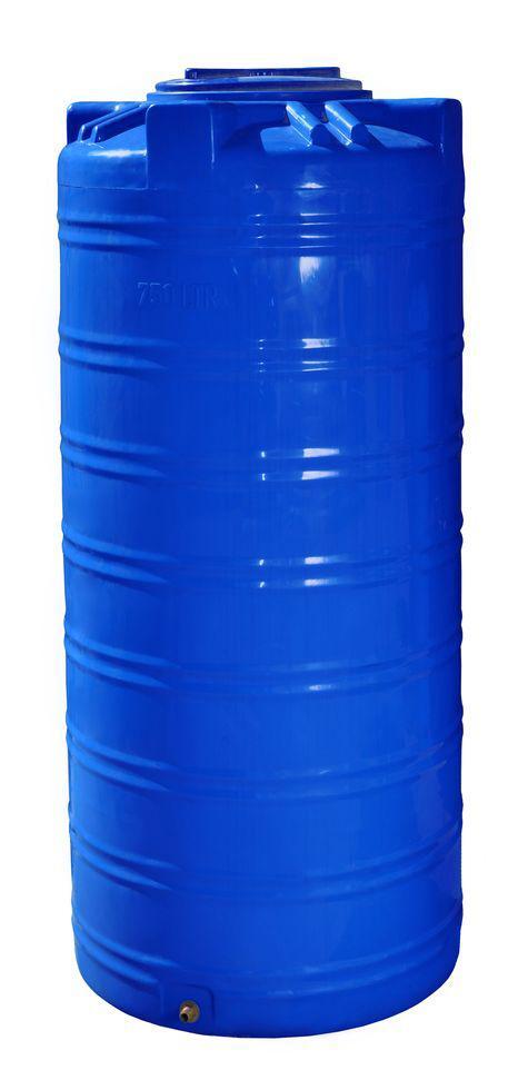 Бесплатная доставка. Емкость, бак, бочка 750 литров пищевая двухслойная узкая вертикальная RVД 700 800