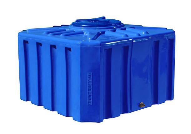 Бесплатная доставка. Емкость, бак, бочка 500 литров пищевая двухслойная квадратная RKД Куб, фото 2