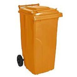 Контейнер для мусора на колесах 120 литров оранжевый бак емкость Тип А 100 150