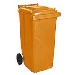 Контейнер для мусора на колесах 120 литров оранжевый бак емкость Тип А 100 150, фото 2