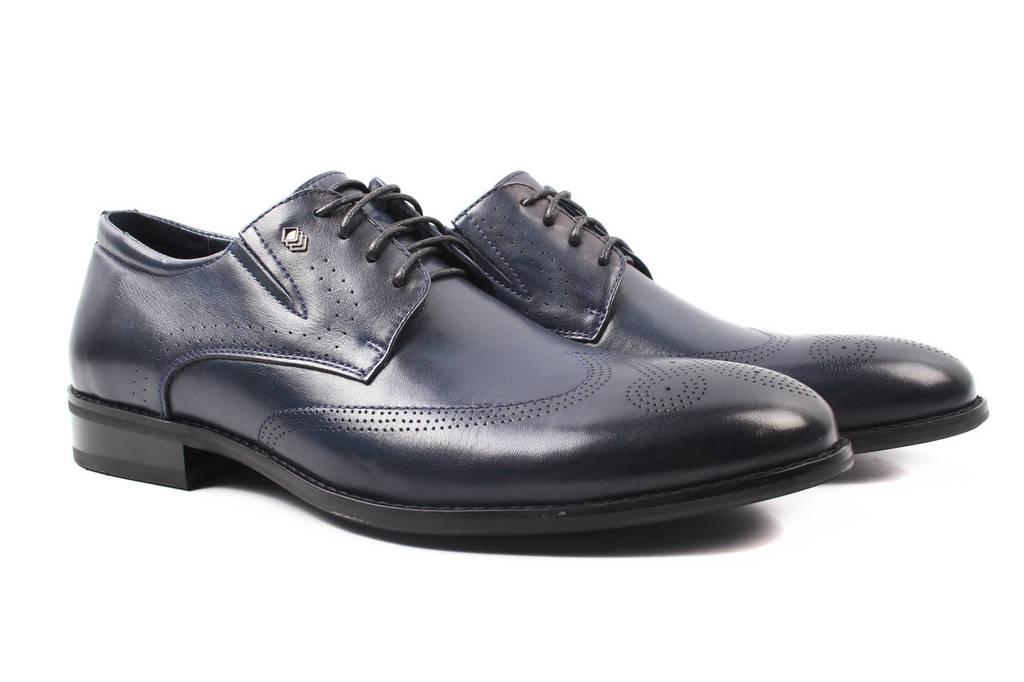 Туфли мужские Mariotti натуральная кожа, цвет синий (мокасины, каблук, весна\осень)