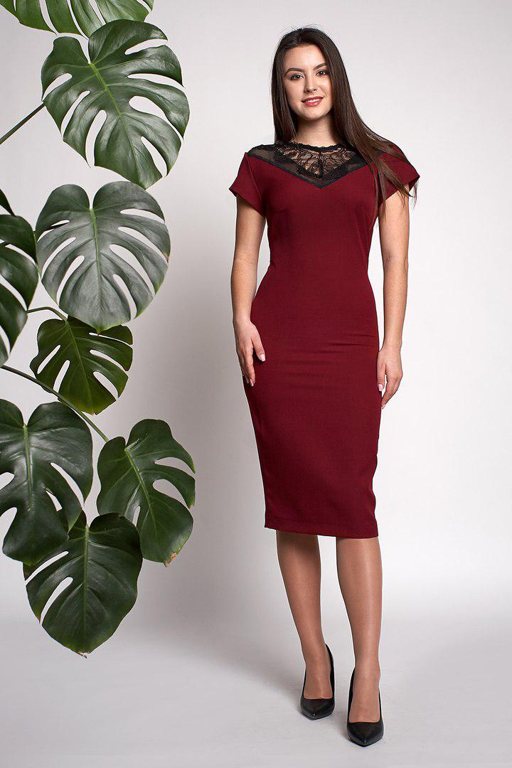 9e3f642ac747 Платье Аделина 0309 4 Бордовое -