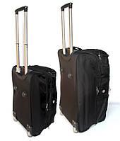 Комплект дорожных сумок на колесах черного окраса 2 шт