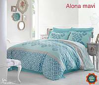 Постельное бельё сатин семейный  Altinbasak Alona mavi