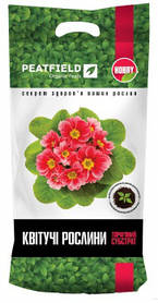 """Торфяной субстрат Peatfield """"Для цветущих растений"""" 6л."""