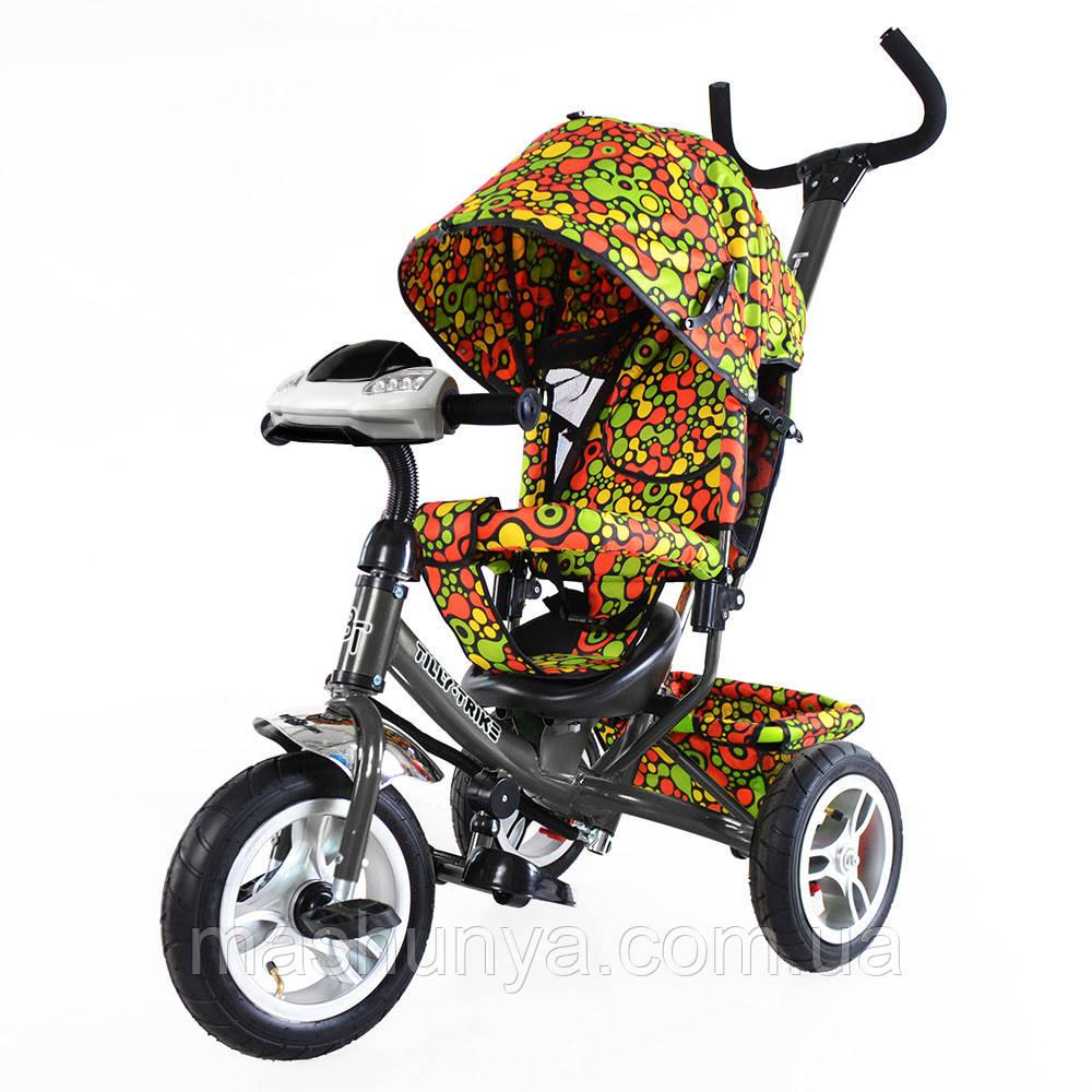 Велосипед трехколесный Tilly Trike T-351 с фарой надувные колеса