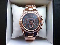 Часы женские Michael Kors Black красное золото