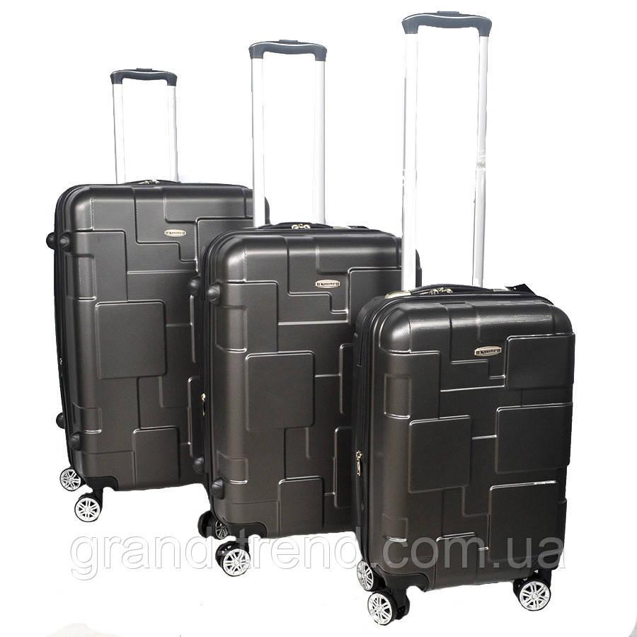 Комплект дорожных чемоданов из пластика разных размеров Kaiman 3 шт - интернет  магазин GRAND-TREND 70199082d31