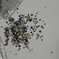 Камни Сваровски, 300шт, микс, оазные цвета и размеры