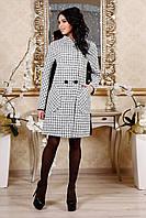 Женское демисезонное пальто в 2х цветах В-1103 Шанель-люрекс