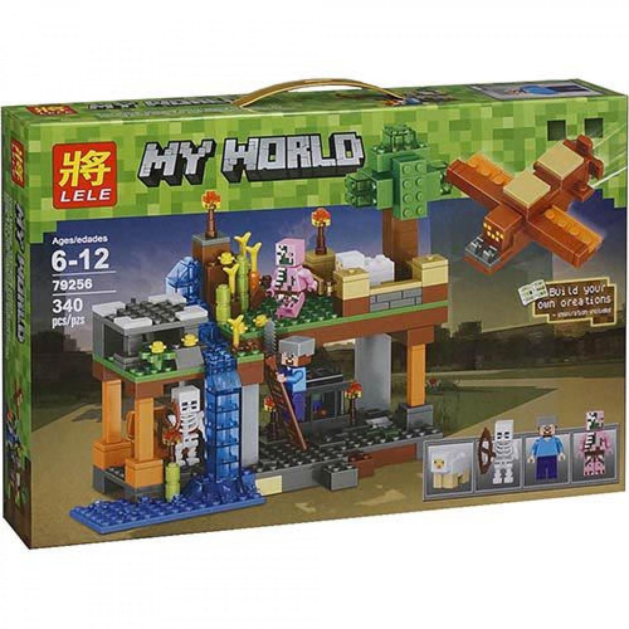 """Конструктор Lele Minecraft """"Воздушная гавань"""" 79256, 340 деталей"""