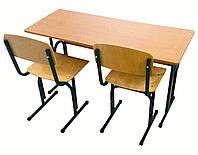 Двухместный регулируемый комплект ученической мебели для начальной школы ( стол + 2 стула )