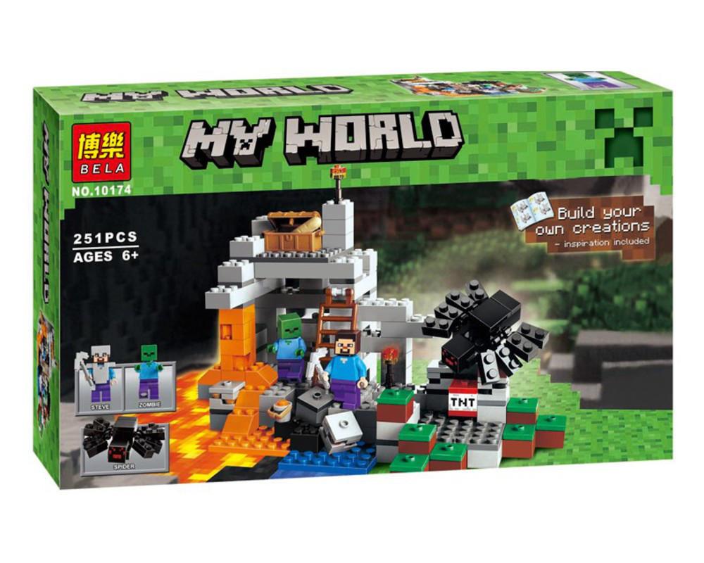 """Конструктор Minecraft Bela 10174 """"Пещера"""" (аналог Lego Майнкрафт 21113), 251 дет"""