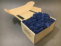 Стабилизированный мох в коробке (Azur Blue)