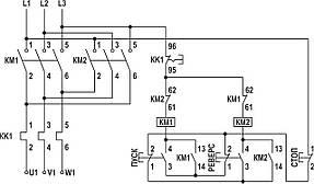 Електромагнітний реверсивний пускач в корпусі ПМЛк-1 95А 220В, фото 2