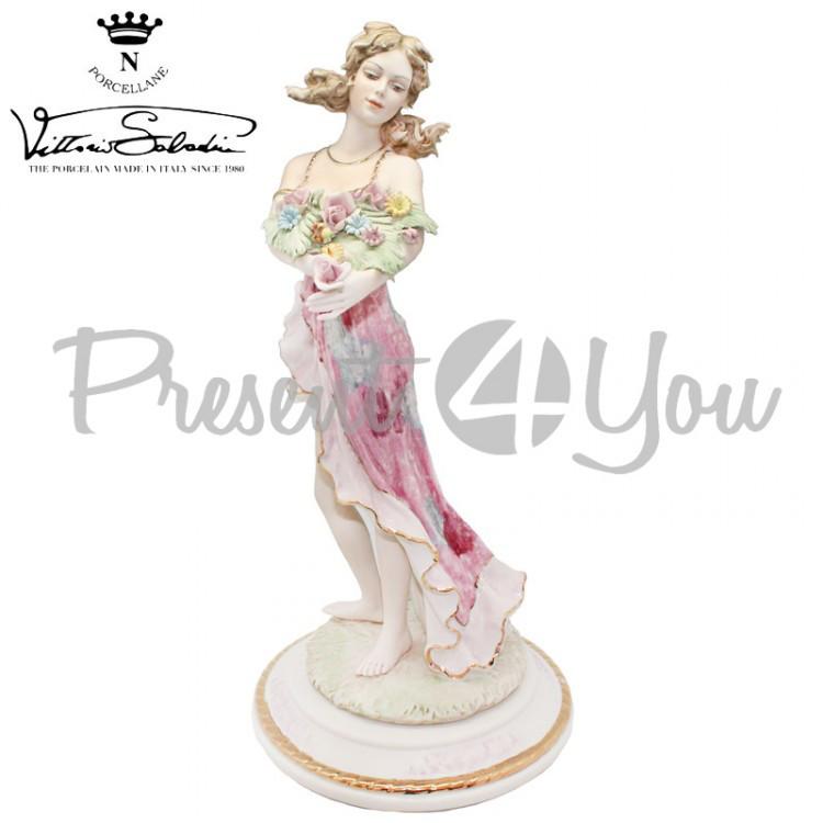 Фигурка-статуэтка фарфоровая Италия, ручная работа «Богиня изобилия» Sabadin, h-36 см (2369LF)