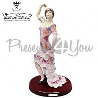 Фигура фарфоровая Италия, ручная работа «Испанская танцовщица» Sabadin,h-47 см (221Ls)