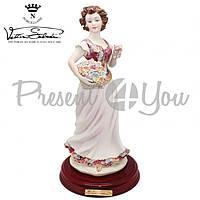 Фигура-статуэтка фарфоровая Италия «Леди-Весна» Sabadin, h-35 см (2380L)