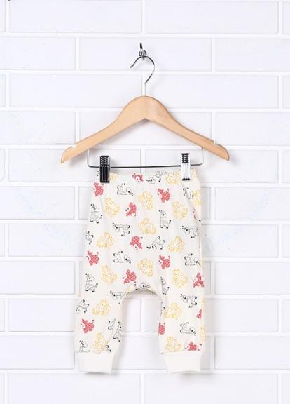 Ясельные штаны с набивным рисунком на резинке