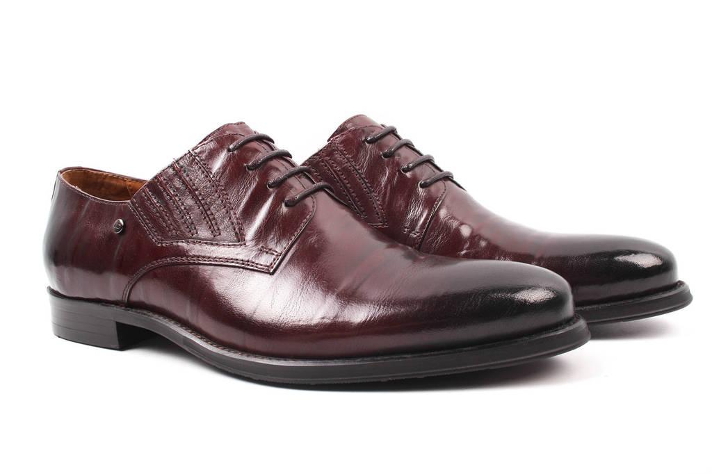 Туфли мужские Lido Marinozi натуральная кожа, цвет бордо (мокасины, каблук, весна\осень)