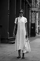 Женское платье-рубаха любой длины, натуральный лен. Украина