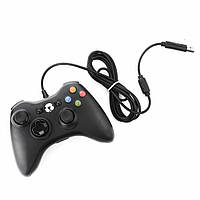 ★Геймпад Xbox 360 PC Black проводной для иксбокса консоли