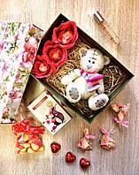 Подарочный набор с мягкой игрушкой тедди