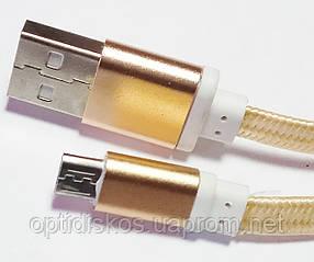 Кабель USB-micro USB, тканевый, лента, плоский, 1м, фото 2