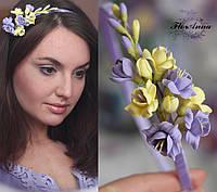 """Обруч/веточка """"Лимонный фиолет"""", фото 1"""
