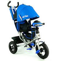 Велосипед детский трехколесный, надувные колеса+фара Бест Трайк 6588B, Best Trike  синий