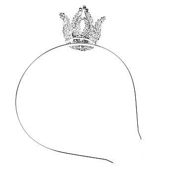 """Обруч """"Принцесса"""" серебристый"""