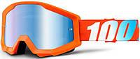 Детские мото очки 100% STRATA JR Orange - Mirror Blue Lens, фото 1