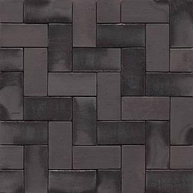 Тротуарная плитка клинкерная MUHR PK 40 Nr. 15 Schwarz-bunt Edelglanz - Черный пестрый глянцевый