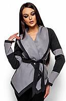 Стильне сіре кашемірове пальто Rey (S, M, L)