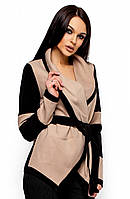 Стильне бежеве кашемірове пальто Rey (S, M, L)