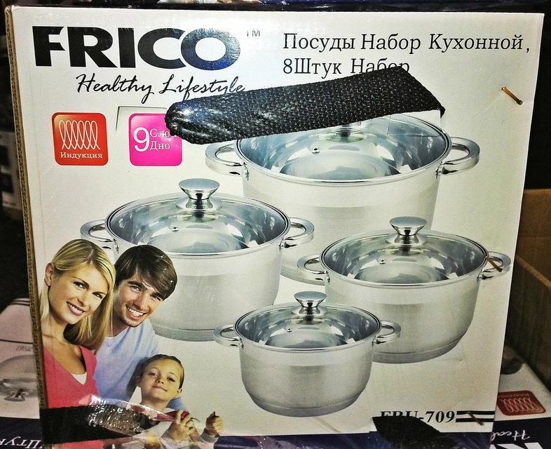 Набор кастрюль Frico FRU-709, 8 предметов 2 / 3 / 4 / 7,5 л.