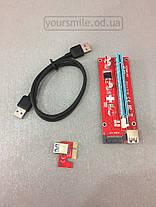 Райзер для видеокарт 7 верcия Riser SATA Сата Molex 6pin  USB 3.0 для майнинга, фото 2