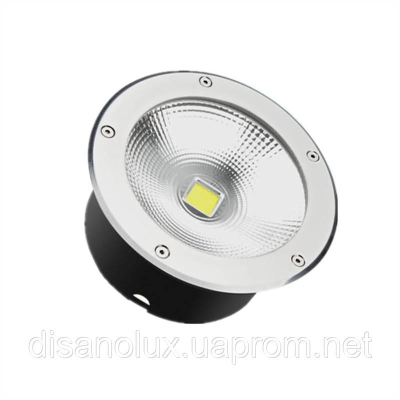 Cветильник грунтовый QR-05 LED COB 30W 230в  размер:D220 * 95 мм IP 67 6000К
