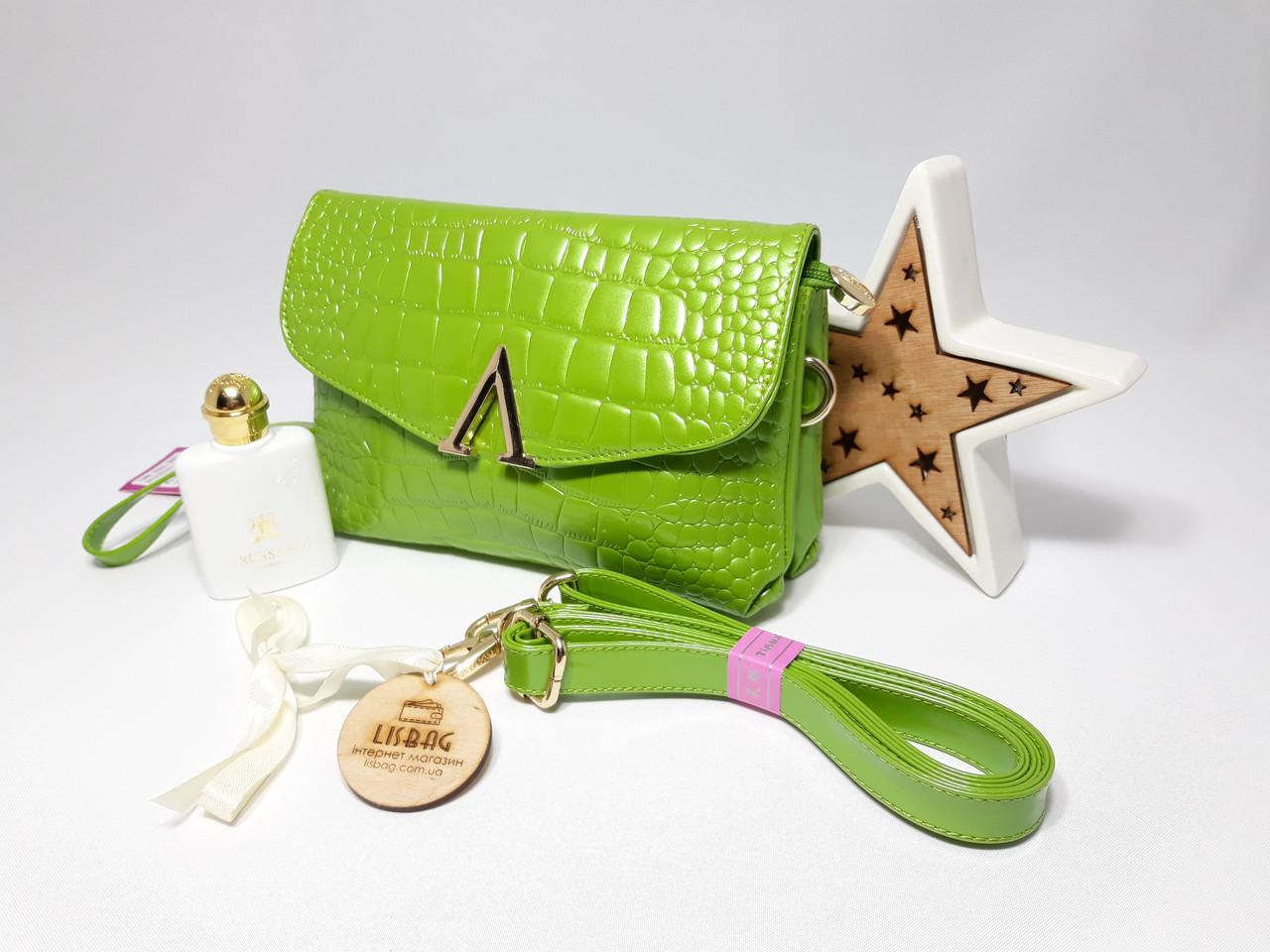3bd033ba6d9d Женская лаковая сумка valentino копия 2в1 Можно использовать как клатч  зеленая, ...