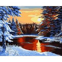 Картина по номерам Рассвет зимой